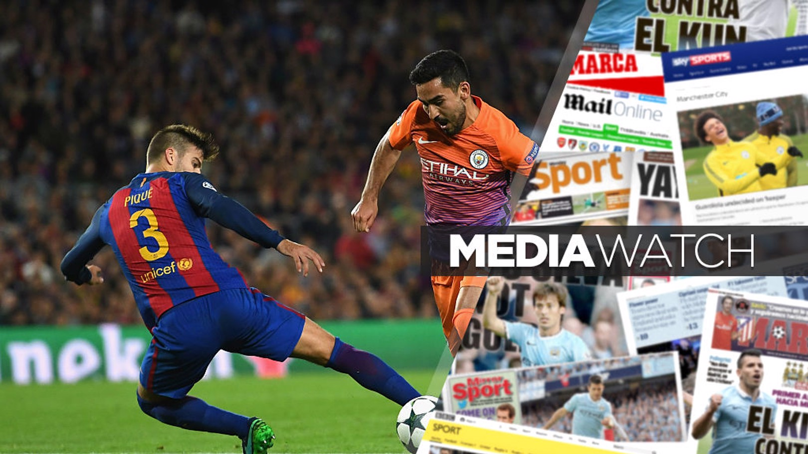 MEDIA WATCH: Gerard Pique has been discussing City's current form.