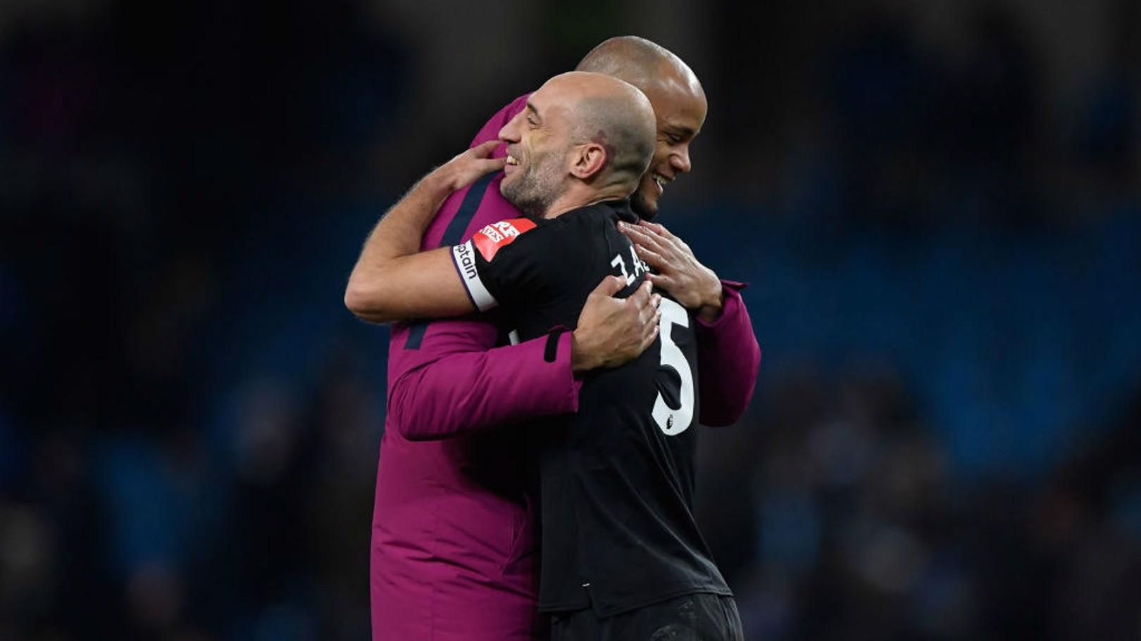RETURN: Pablo Zabaleta spoke after returning to the Etihad when West Ham faced City.