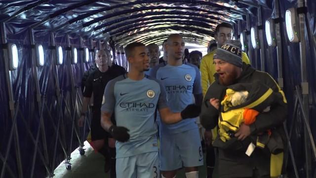 Man City v Swansea Tunnel Cam