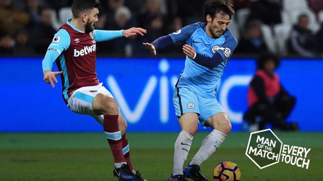 EVERY TOUCH: David Silva v West Ham