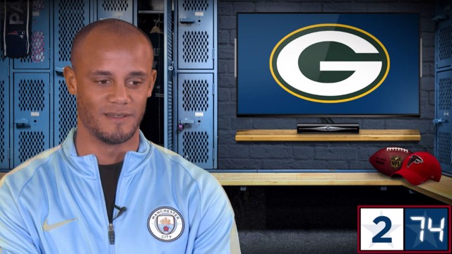 KOMPANY: City's captain works through the NFL logos in a CityTV challenge
