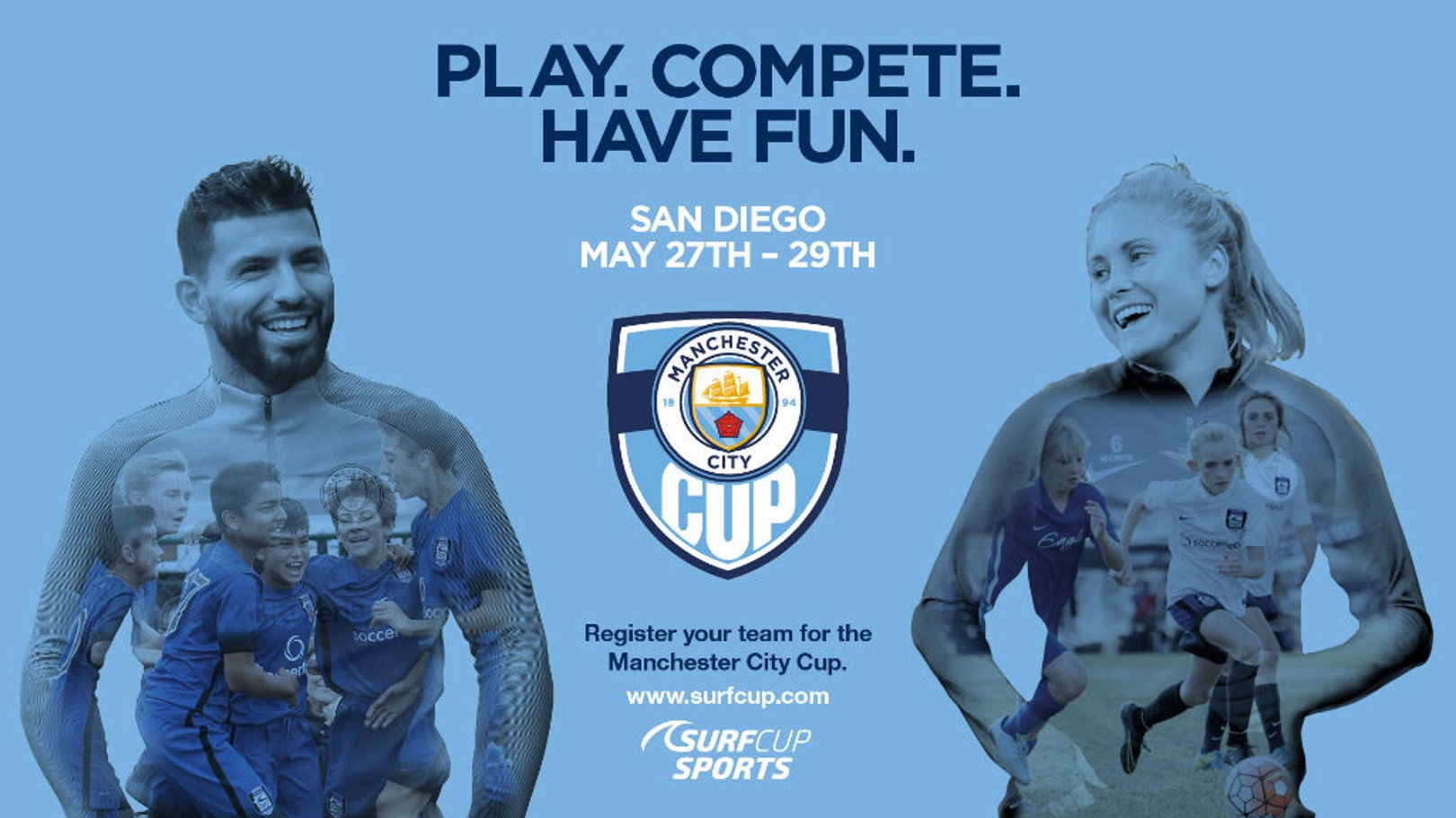 STATESIDE: The Manchester City Cup heads back to San Diego.