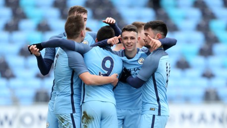 STAR MAN: Phil Foden spots the camera as he celebrates