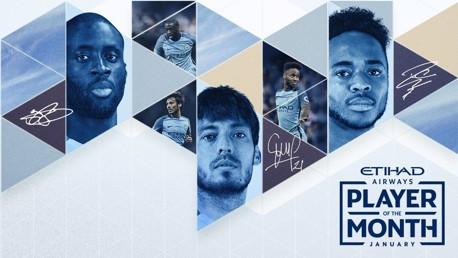 NOMINEES: Yaya, Silva and Sterling