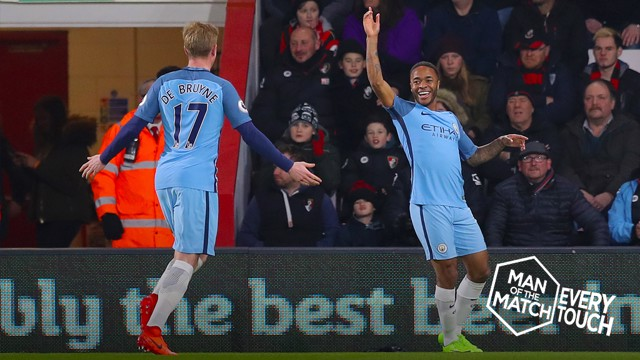 EVERY TOUCH: Raheem Sterling v Bournemouth