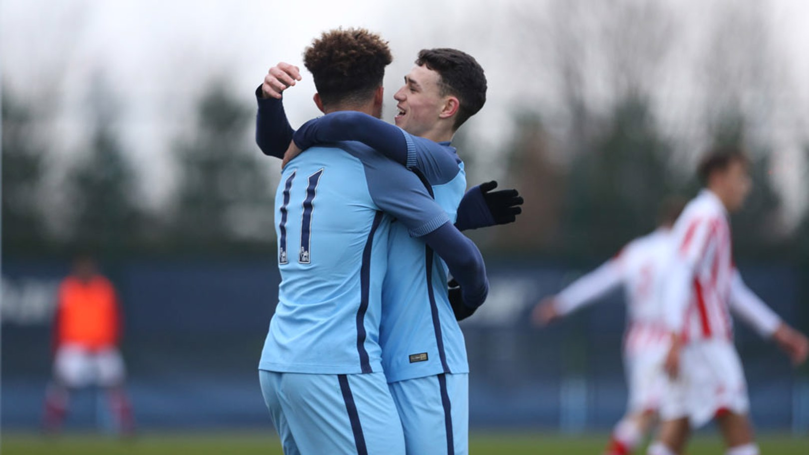 SANCHO AND FODEN Two of the England stars in action for Manchester City