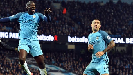CREDIT DUE: Yaya and Aleks Kolarov
