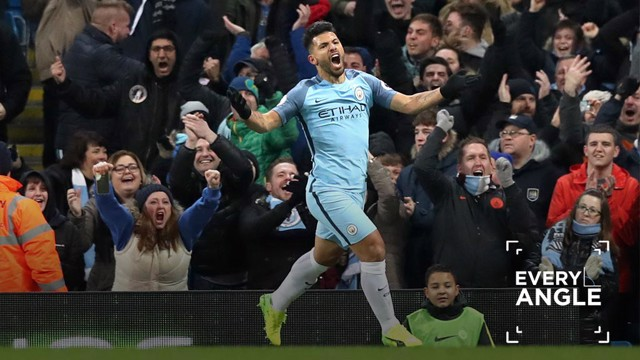 EVERY ANGLE: Aguero's outrageous finish against Burnely