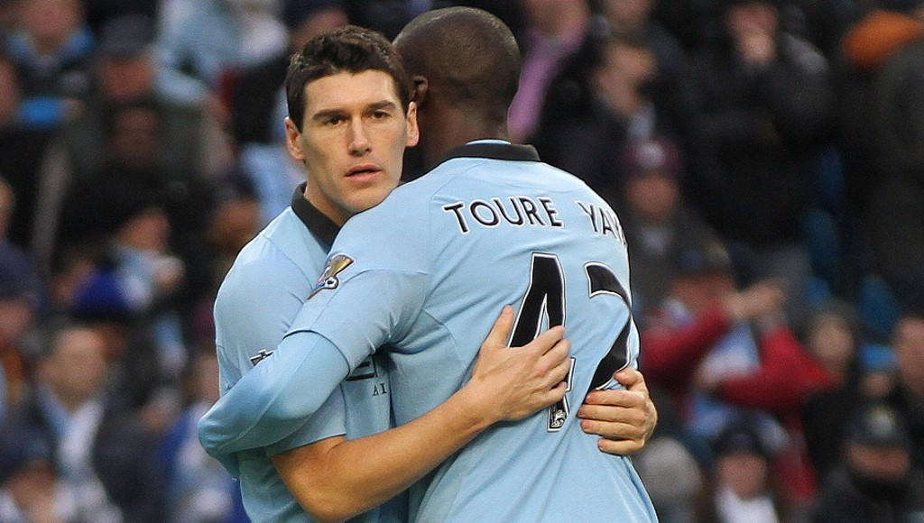 BROTHERS IN ARMS: Yaya has nothing but respect for Gareth Barry