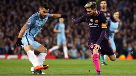 APPRECIATION: Sergio Aguero has hailed his compatriot Lionel Messi