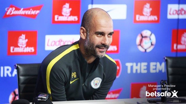 ANTICPATION: Pep Guardiola is looking forward to his first taste of the FA Cup action.