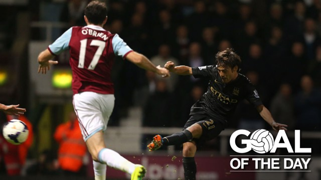 SPANISH MAESTRO: David Silva's goal against West Ham in 2013