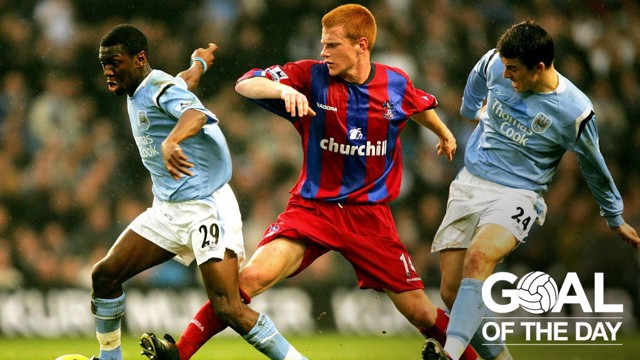 SWP: A wonderful strike from Shaun Wright-Phillips helped City to a win over Palace back in 2005