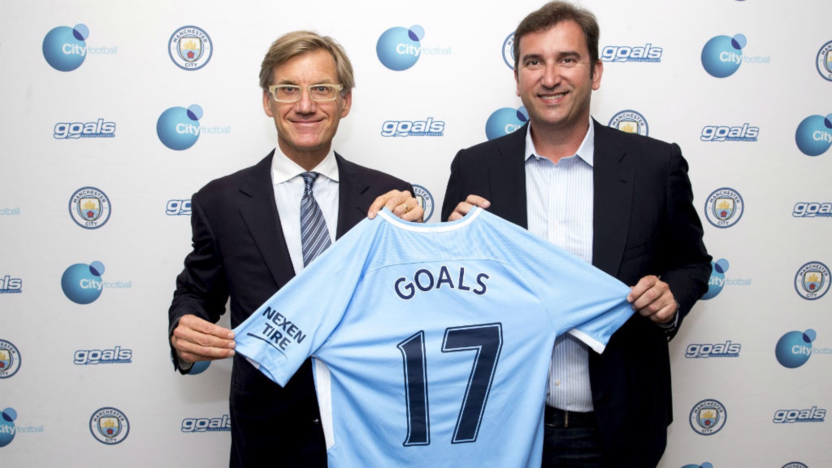 Nick Basing, Chairman of Goals and Ferran Soriano, Chief Executive of City Football Group