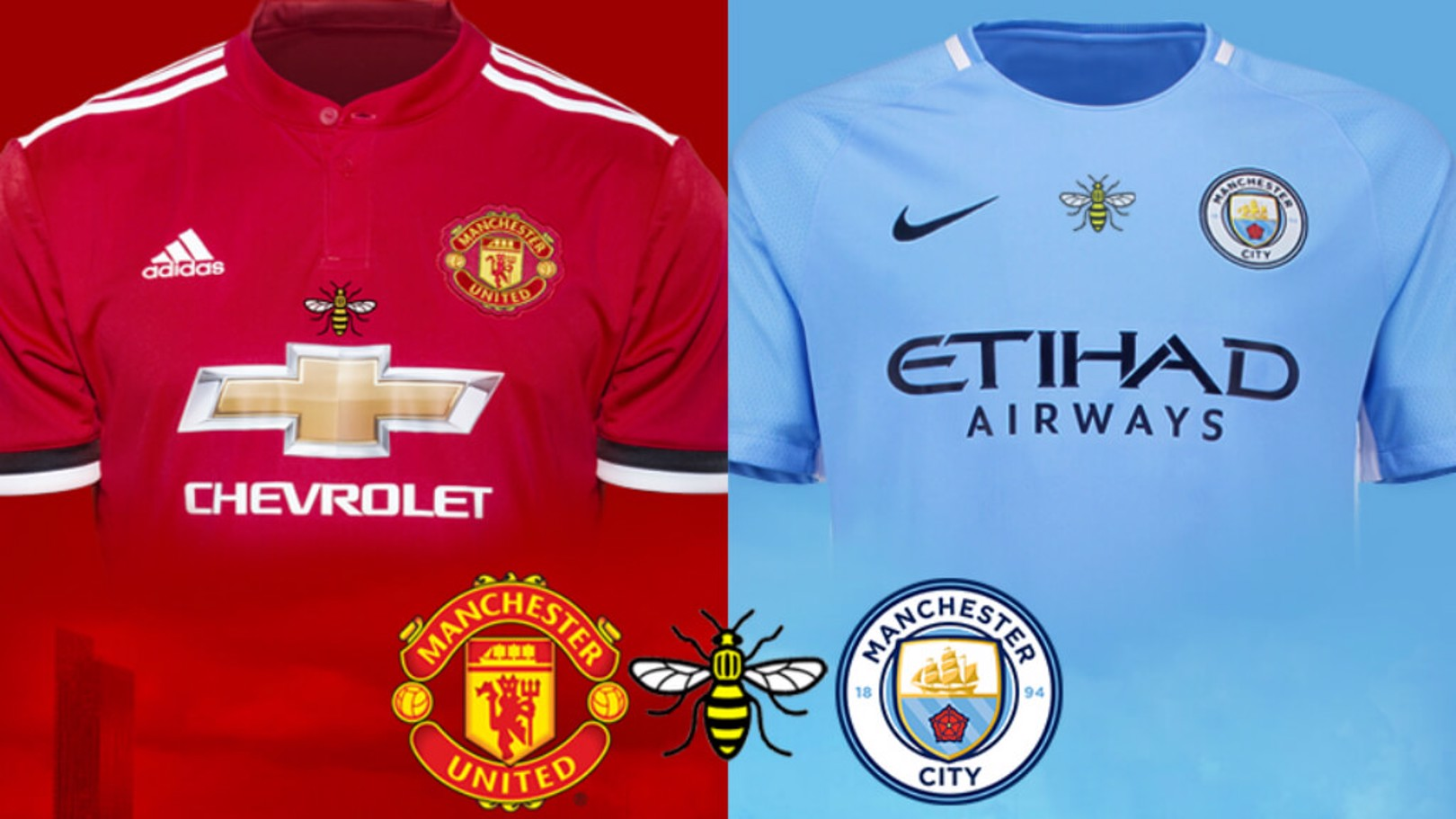 A CITY UNITED: The Manchester bee will feature on both clubs' shirts in Houston.