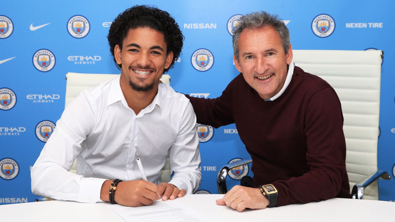 DONE DEAL: Douglas Luiz has penned a five-year contract with City.