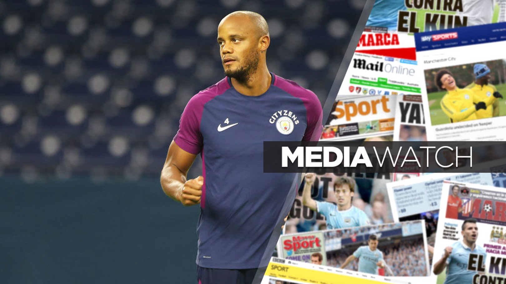 MEDIA TALK: Vincent Kompany.