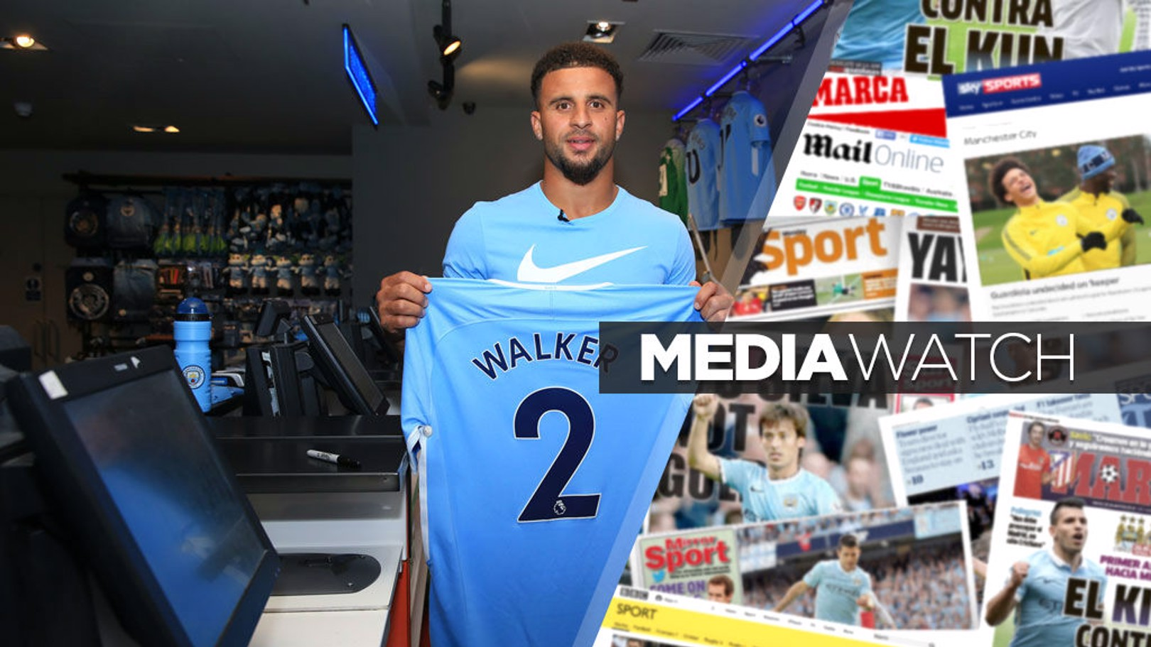 DONE DEAL: The press have reacted to the signing of Kyle Walker