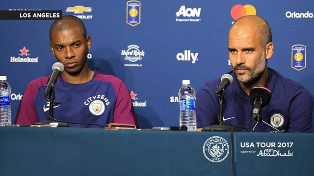 REAL TEST: Fernandinho and Pep Guardiola