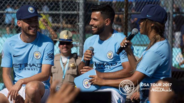 FANTASTIC: The City players enjoy the LA Fan Festival