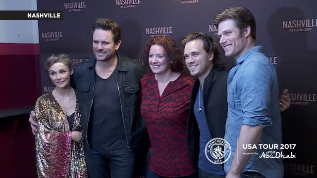 CAST OF NASHVILLE: The stars of the American show stopped by to chat with CityTV when they visited Manchester last month.