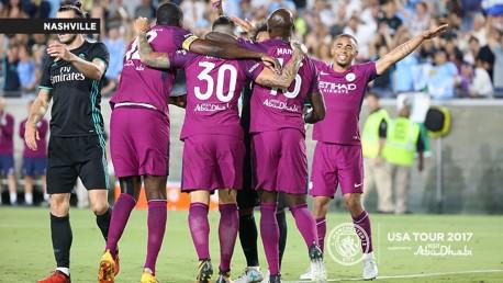CELEBRACIÓN. El City derrotó 4-1 al Real Madrid en Los Ángeles.