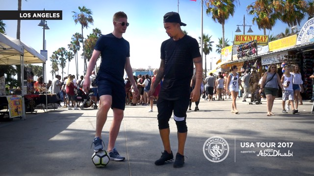NUTMEG CHALLENGE: See how Gabriel and Kevin got on in LA