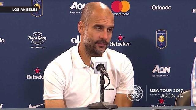 HAPPY: Pep Guardiola