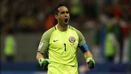 FINAL: Claudio Bravo is on the cusp of Confederations Cup glory.