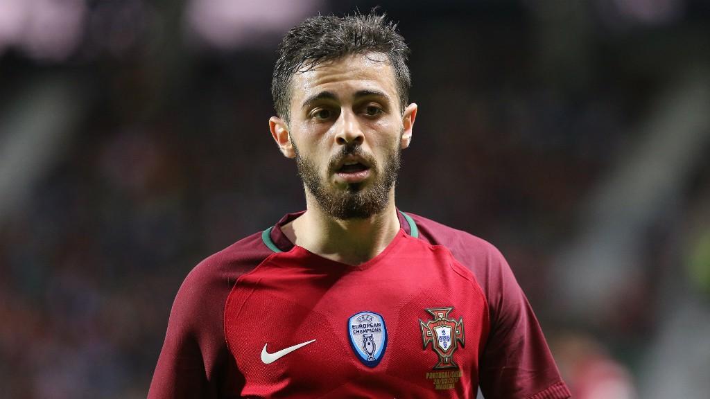 GOLEADOR. Bernardo Silva fue autor de uno de los cuatro tantos de Portugal ante Nueva Zelanda.