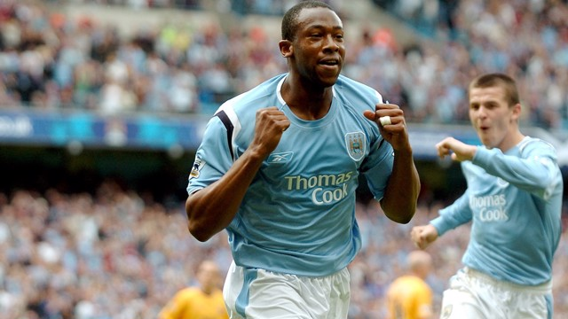 CLASSIC: Paulo Wanchope strikes against the Toffees