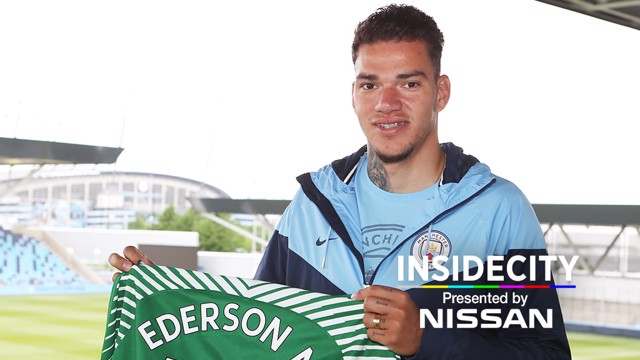 NEW BLUE: Ederson will officially join City on July 1.
