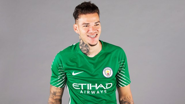 ALL SMILES: Ederson will officially become a City player on 1 July.