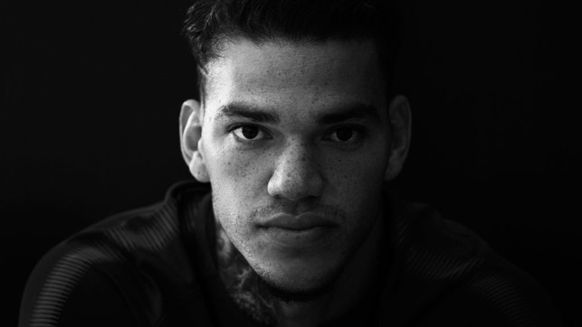 HEADSHOT: Ederson poses for the camera.