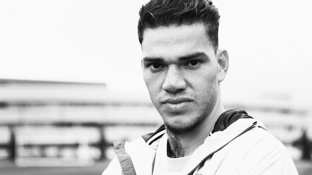 BLACK AND WHITE: Up close with the new signing.