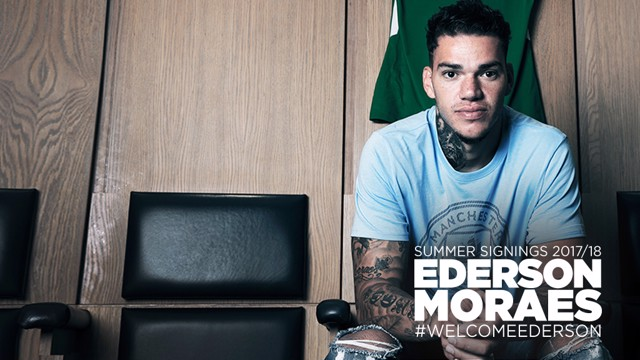 NEW KID ON THE BLOCK: Ederson will officially join City on 1 July.