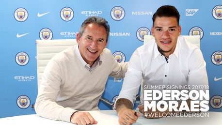 PICTURE PERFECT: Ederson will officially join the Blues on 1 July.