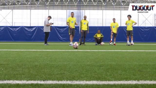 GOAL LINE CHALLENGE: Sané, Kolarov, Kompany, Fernandinho and Garcia go head to head