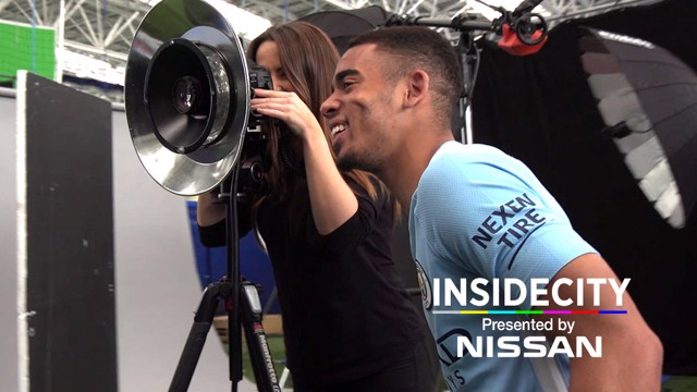 LOOKING SHARP: Gabriel Jesus shows off the new kit