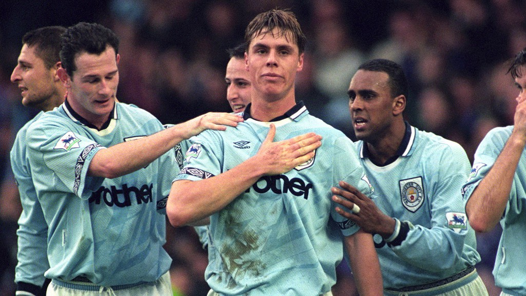 GARRY FLITCROFT: Picture centre, flanked by Mike Sheron (L) and the late David Rocastle (R)