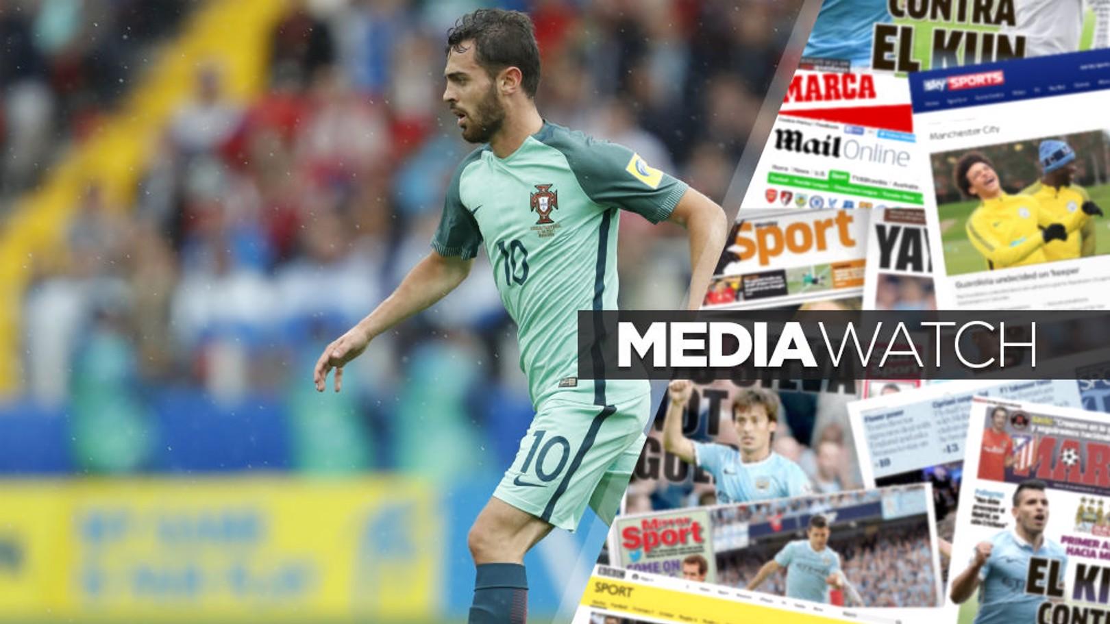 SILVA SERVICE: Bernardo has eased fears over his Confederations Cup injury scare
