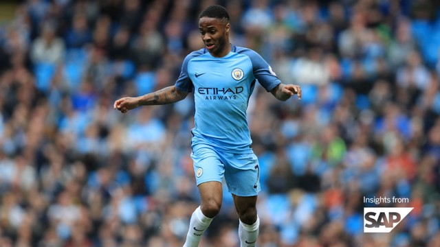STERLING FORM: Raheem impressed during the 2016/17 season.