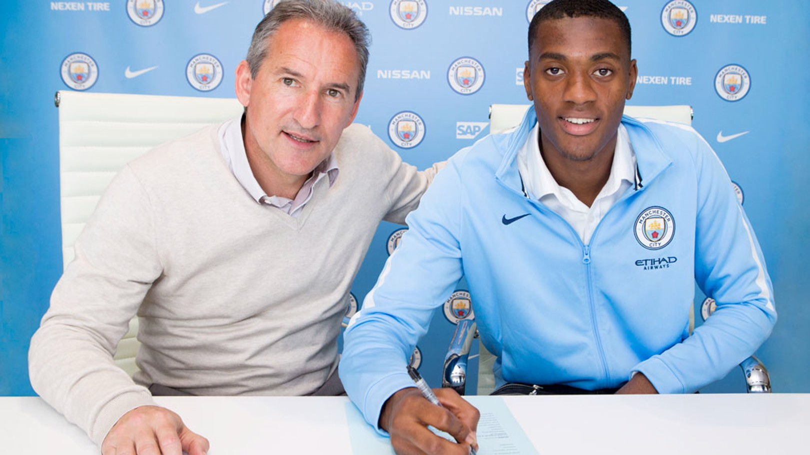 DONE DEAL: Tosin Adarabioyo has signed a new contract with City