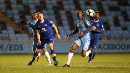 Match action: Man City U23s v Everton