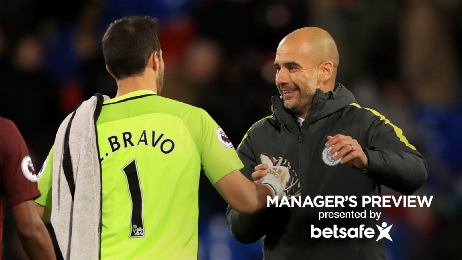 PASS MASTER: Pep Guardiola believes Claudio Bravo's passing ability is key to his side's success