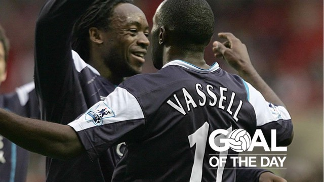 THROWBACK THURSDAY: Kiki Musampa celebrates with Darius Vassell on August 23, 2005