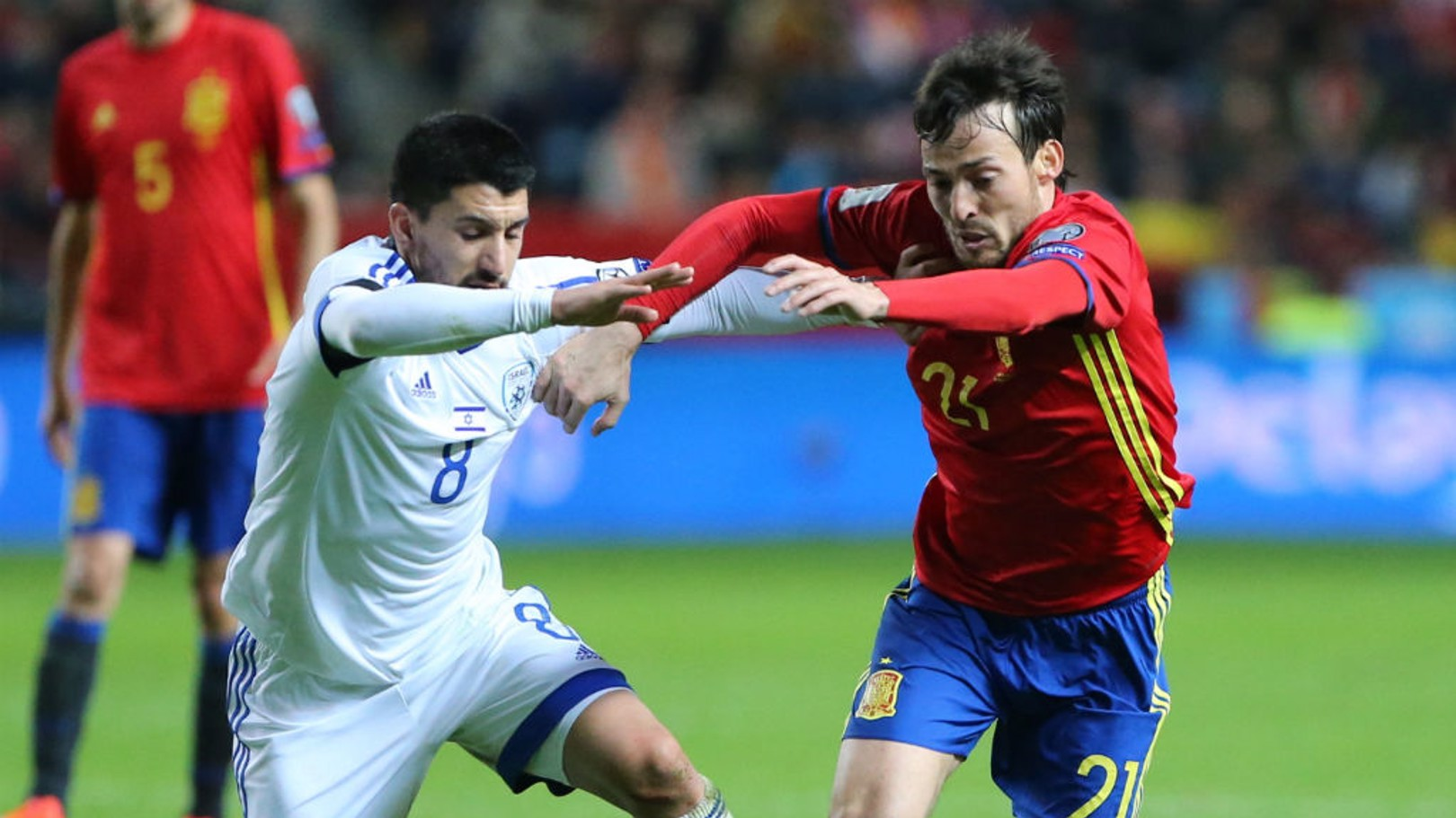 SILVA: The Spaniard is one of Manchester City's international contingent