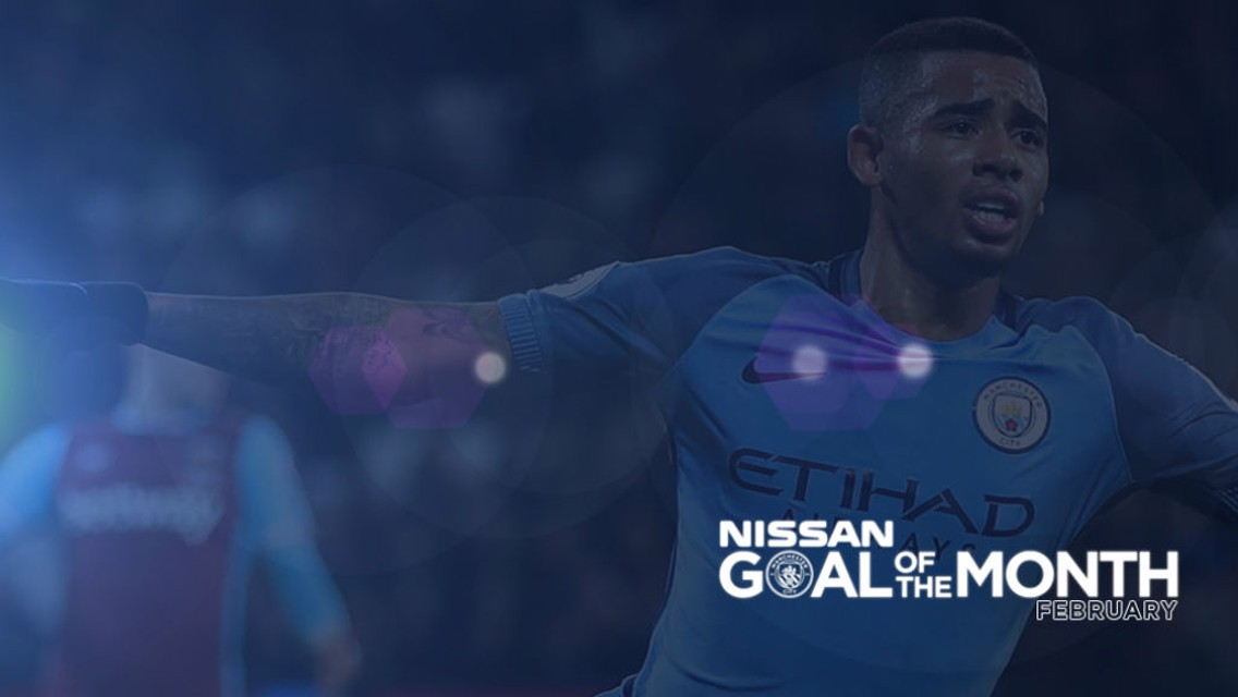 GOAL OF THE MONTH: Will Gabriel Jesus win your vote for February?