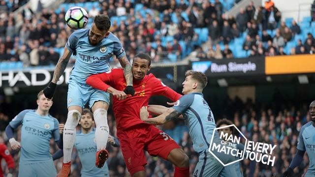 STAR MAN: Nicolas Otamendi had a solid display against Liverpool