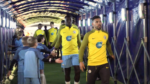 BEHIND THE SCENES: Man City v Stoke tunnel cam.